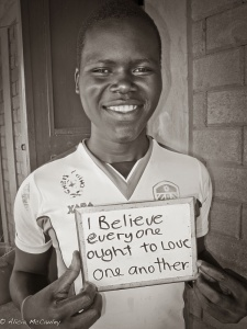 Opiyo Chris, one of our Work Study Scholarship recipients