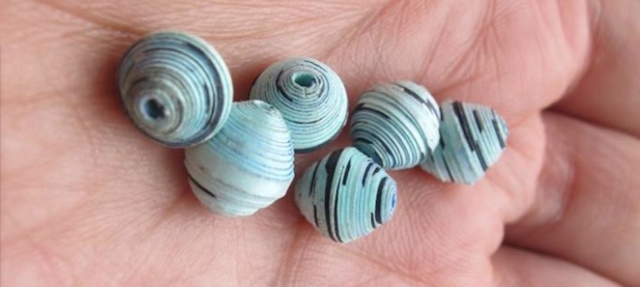 paper beads made from recycled paper