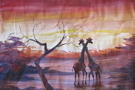 Giraffes by Leku Ivan $40 (plus shipping)